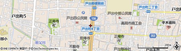 富山県高岡市戸出町周辺の地図