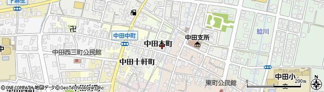 富山県高岡市中田本町周辺の地図