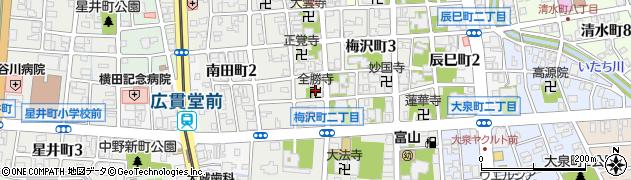 全勝寺周辺の地図