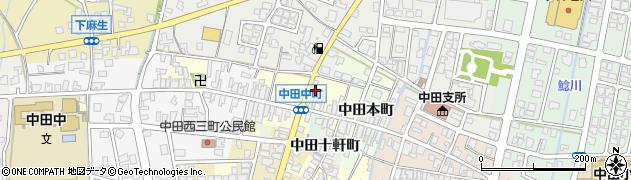 富山県高岡市中田中町周辺の地図