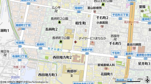 〒939-8202 富山県富山市西田地方町の地図