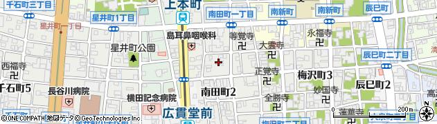 富山県富山市南田町周辺の地図