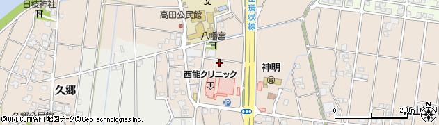 富山県富山市高田周辺の地図
