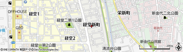 富山県富山市経堂新町周辺の地図