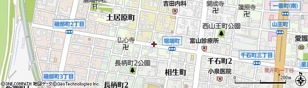 富山県富山市堀端町周辺の地図