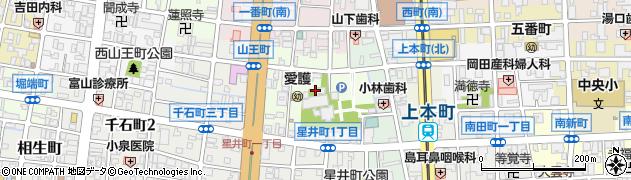 富山県富山市山王町周辺の地図