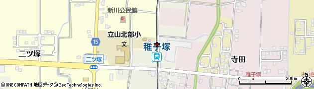 富山県中新川郡立山町周辺の地図