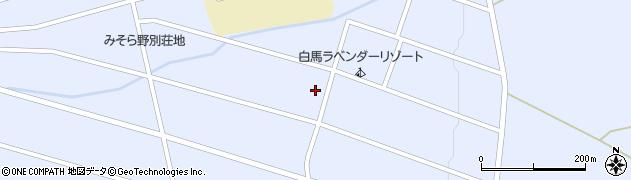 長野県白馬村(北安曇郡)みそら野周辺の地図