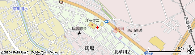 栃木県さくら市北草川周辺の地図