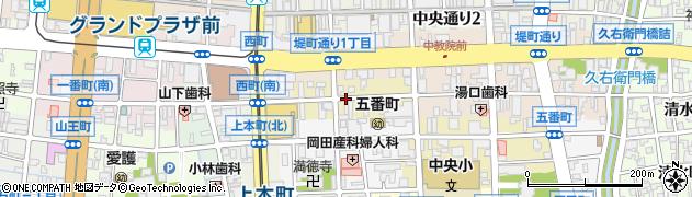 富山県富山市三番町周辺の地図
