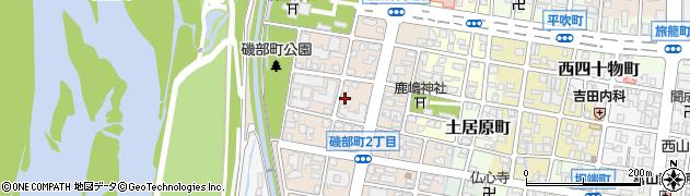 富山県富山市磯部町周辺の地図