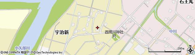 富山県小矢部市宇治新周辺の地図