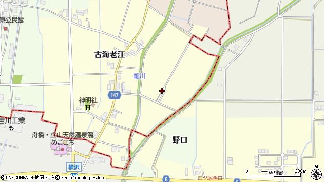 〒930-0285 富山県中新川郡舟橋村古海老江の地図