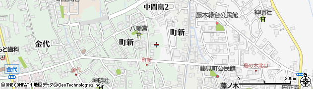 富山県富山市町新周辺の地図