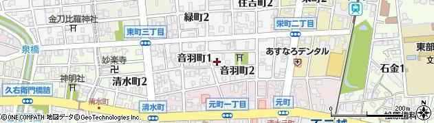 富山県富山市音羽町周辺の地図