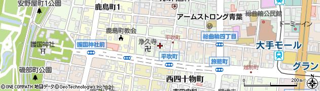 富山県富山市平吹町周辺の地図