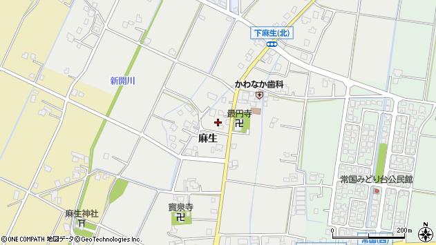 〒939-1272 富山県高岡市下麻生の地図