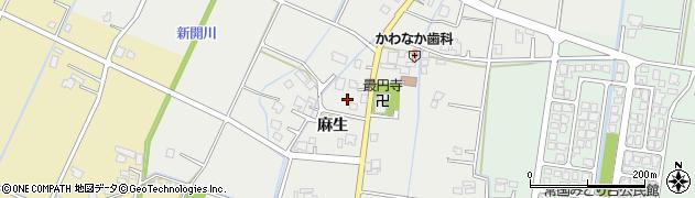 富山県高岡市麻生周辺の地図