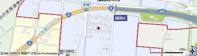 富山県高岡市福岡町木舟周辺の地図