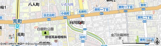 富山県富山市向川原町周辺の地図