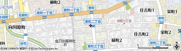 富山県富山市東町周辺の地図
