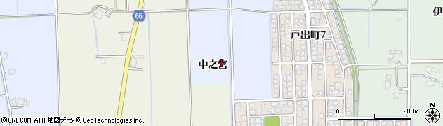 富山県高岡市戸出(中之宮)周辺の地図