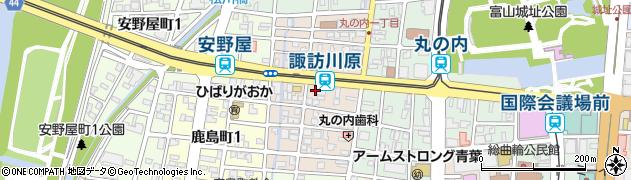 富山県富山市諏訪川原周辺の地図