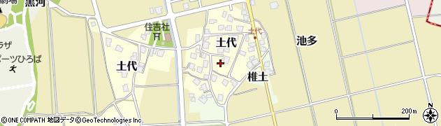 富山県射水市土代周辺の地図