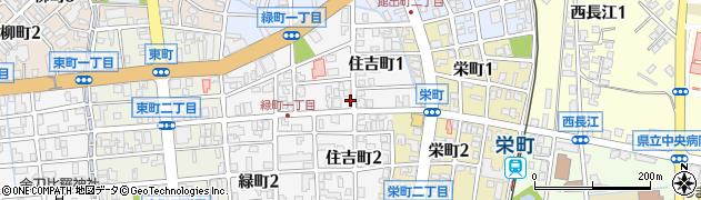富山県富山市住吉町周辺の地図