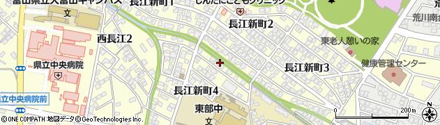 富山県富山市長江新町周辺の地図