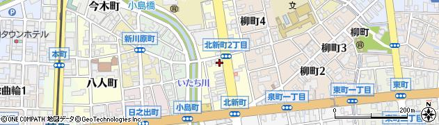 富山県富山市北新町周辺の地図