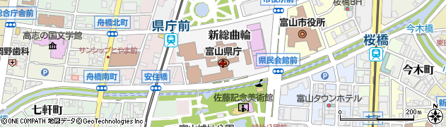 富山県周辺の地図