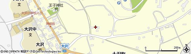 栃木県日光市大沢町周辺の地図