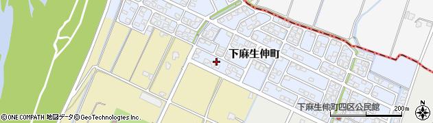 富山県高岡市下麻生伸町周辺の地図