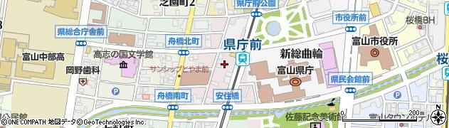 富山県富山市安住町周辺の地図