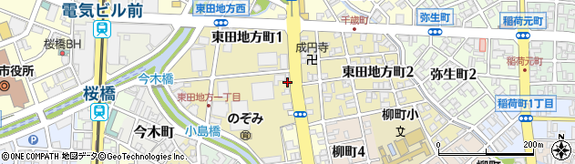 富山県富山市東田地方町周辺の地図