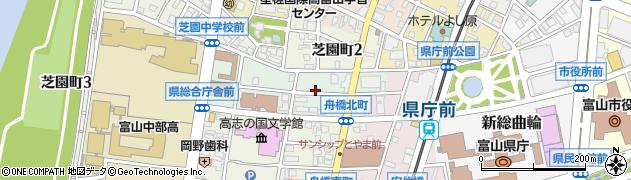 富山県富山市舟橋北町周辺の地図