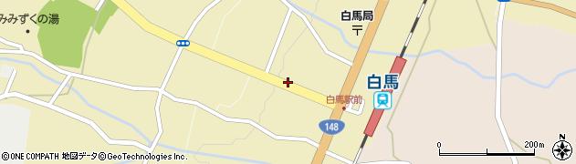 長野県白馬村(北安曇郡)白馬町周辺の地図