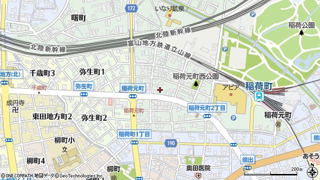 〒930-0010 富山県富山市稲荷元町の地図