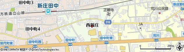 富山県富山市西新庄周辺の地図