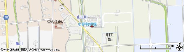 富山県高岡市福岡町小伊勢領周辺の地図