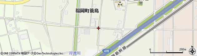 富山県高岡市福岡町蓑島周辺の地図