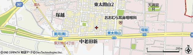 富山県射水市東太閤山3丁目周辺の地図