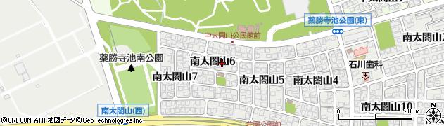 富山県射水市南太閤山6丁目周辺の地図