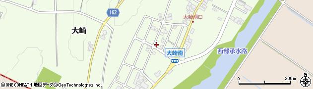 石川県かほく市大崎南周辺の地図