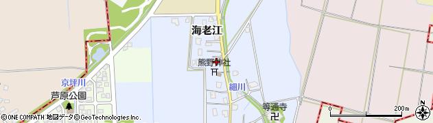 富山県舟橋村(中新川郡)海老江周辺の地図