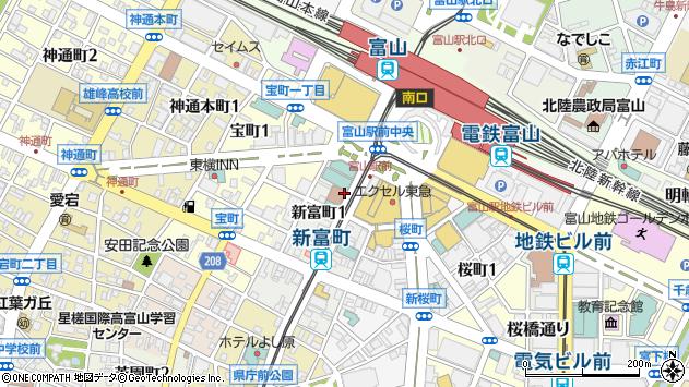 〒930-0002 富山県富山市新富町の地図
