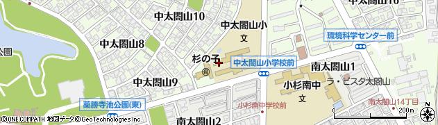 富山県射水市中太閤山11丁目周辺の地図