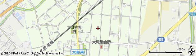 富山県高岡市福岡町大滝周辺の地図
