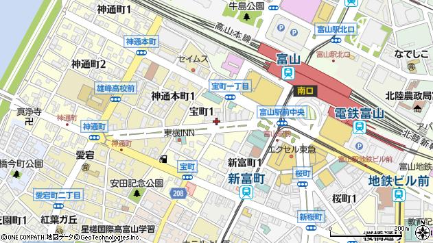 〒930-0007 富山県富山市宝町の地図